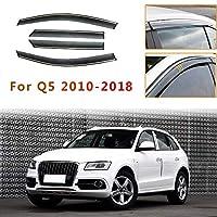 Audi Q5 2010-2018 サイドバイザー,ベントウィンドウディフレクター雨除け 換気,入りウィンドウベントデフレクター,インチャネルィンドウ ウィンドデフレクター,純正型ドアバイザースモーク用サン/レイン/ウィンドガード