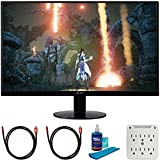 Acer SB270 Bbix 27 inch Full HD Zero Frame Monitor with Radeon Freesync Technology Bundle with 2X 6FT Universal 4K HDMI 2.0 Cable, Universal Screen Cleaner and 6-Outlet Surge Adapter