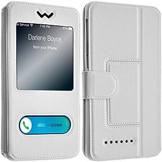 Funda con Tapa y 2 Ventanas para HTC Desire 626, Color Blanco