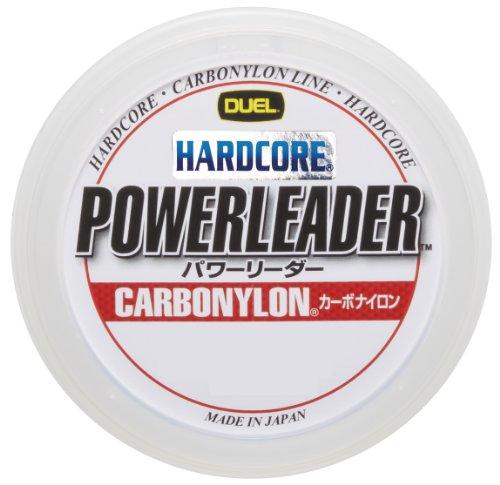DUEL(デュエル) HARDCORE(ハードコア) カーボナイロンライン 40Lbs. HARDCORE POWERLEADER CN 50m 40LbS. クリアー H3331