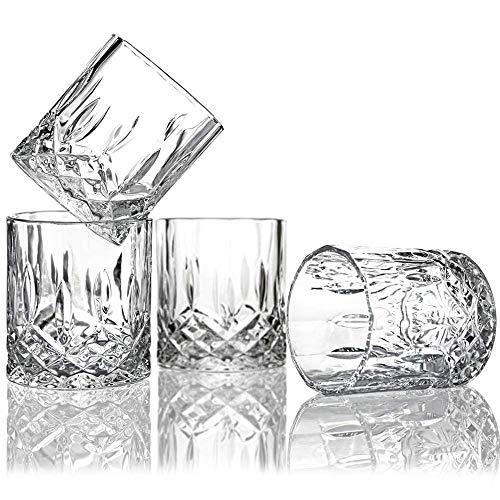 AoYan 6 Stks Whiskey Bril - Perfect Bar Gift Set, 7.5 Oz Uniek Bourbon Glas, Brandy, Scotch Gin Bril, voor Thuis, Restaurants en Feesten, Drinkglazen