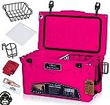 45QT Cold Bastard Rugged+ Pink NEON Best Premium Ice Chest Cooler Accessories Free S&H