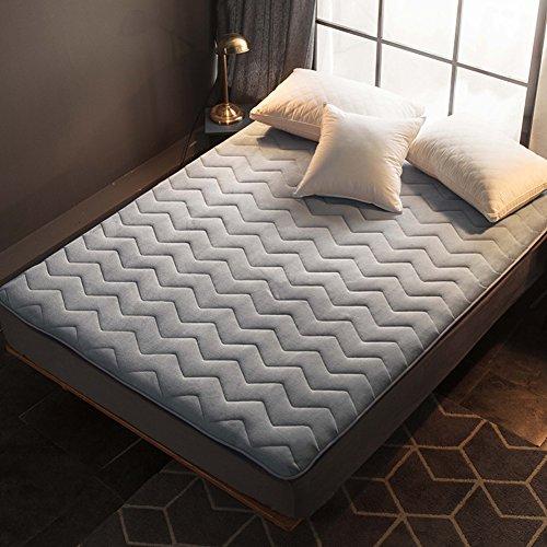 Tensism Japanese Futon Mattress,Thicken Flannel Tatami Mattress,Folding Mattress Pad Topper,for Sleep Travel Camping-a 180x200cm(71x79inch)