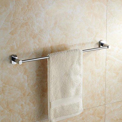 MBYW moderne hoge dragende handdoek rek badkamer handdoekenrek Opbergplank Hanger 40cm-1 m badkamer koper enkele staaf handdoek rek enkele laag handdoek staaf lange handdoek hanger 40cm-1 m