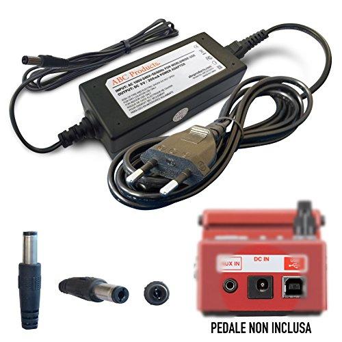 Boss / Roland sostituzione PSU 9V / 9 Volt / 2AMP alimentazione cavo adattatore di alimentazione PSA-230ES, PSA-230S, PSA-240 per Select Pedali (modelli indicati di seguito) 3 metri cavo extra lungo
