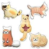 Set di 5 formine per biscotti a forma di gatto, gatto seduto a piedi, gatto in piedi, forma di gatto arricciato, in acciaio inox resistente