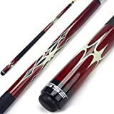 GSE Games & Sports Expert 58' 2-Piece Canadian Maple Billiard Pool Cue Stick(4 Colors, 18-21oz) (Red - 20oz)