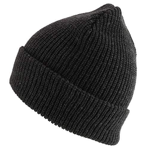Trendy Apparel Shop Strickmütze/Beanie-Mütze, Übergröße, einfarbig - Grau - XX-Large