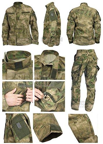 ZAPT Military Uniform Tactical Atacs A-TACS FG Camo PC Ripstop Shirt & Pants Army Combat Coat y Combat Coat (S, ACU)