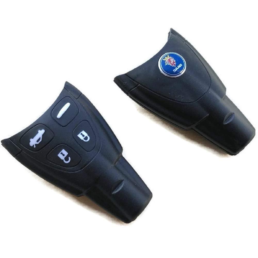 MSPowerstrange 9-3 Remote Ke y Fob Original Quality Shell Case, Replacement Ke y Case, Part with Logo Saab