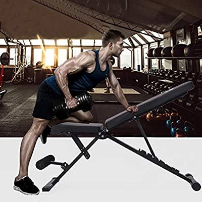 Adjustable Bench - Home Gym Foldable Bench Weig...