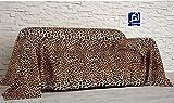 L'EMPORIO_CASA_WEB Tagesdecke, Leopardenmuster, Bettlaken aus 100 % Baumwolle, Granfoulard Tagesdecke Made in Italy (Leopard), 160 x 290 cm