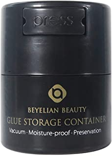 BEYELIAN Glue Storage Container Eyelash Extensions Adhesive Jar Complete Black No Direct Light for 5ml 10ml Round Type Bottle