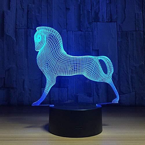 Led Veilleuses 3D, Mignon Coloré Poney Cheval Jouets Mon Petit Poney 3D Illusion Veilleuse Acrylique Veilleuse Bébé Enfants Sommeil Lampe