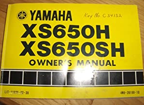 1980 1981 Yamaha XS650 Owners Manual XS 650 H & SH