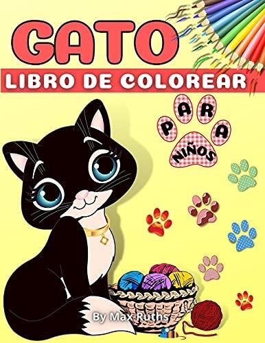 Gato Libro de Colorear Para Niños: - Libro para colorear para niños pequeños, niños y niñas / Libro para niños, preescolar y infantil / Divertido y ... punto a punto para 2-4,3-5,4-8 años