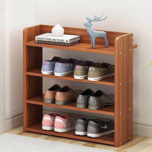 KaminHome - Zapatero recibidor Pasillo Paul Color marrón Oscuro con baldas para Zapatos Accesorios aparador Estilo escandinavo nórdico Moderno clásico de Madera (48 cm x 42 cm x 20 cm)