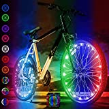 Activ Life Luces de radios de Bicicleta (2 neumáticos, Cambio de Color) Accesorio Divertido para Cool Beach Cruisers, Top Mountain, BMX Trick, Niños y Las Mejores Luces de Rueda Bicicleta Plegable