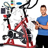 AUTOKS TXYJ Exercise Bike,Indoor Cycling Stationary Bike, Handlebar and Comfortable Seat Spin Exercise Bike with LCD Monitor for Home Gym
