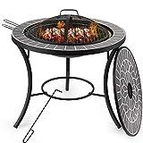 Dawoo Braciere da Tavolino, Braciere per Barbecue, Braciere, Braciere da Giardino, Adatto per Barbecue All'Aperto Terrazza da Picnic Cortile Campeggio