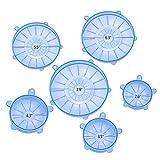 6 Pezzi Stretch Silicone Coperchi Riutilizzabile Copertura Resistente per Ciotola Containe...
