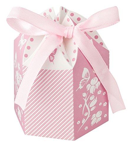 Kleenes Traumhandel, 30scatole regalo per battesimo, nascita e nozze,bomboniere, 8x 6x 6cm, Colore: rosa., 8x6x6 cm