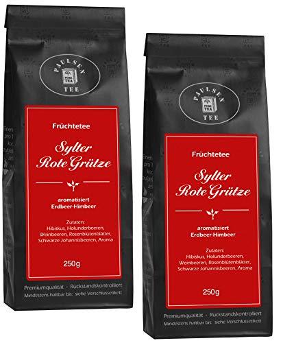 Sylter Rote Grütze 2 x 100g (49,75 Euro / kg) Paulsen Tee Früchtetee rückstandskontrolliert