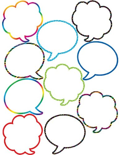 Teacher Created Resources Speech/Thought Bubbles Accents (5047)