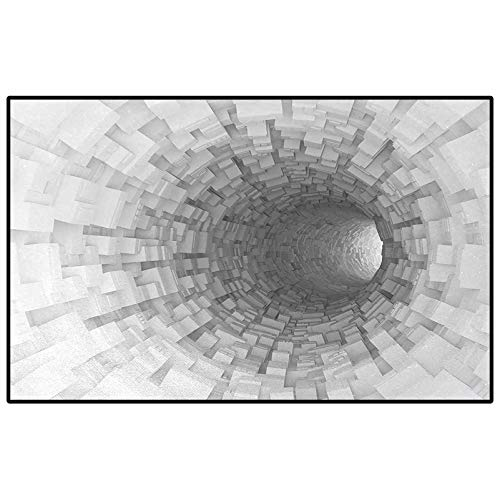 Outer Space Soft Indoor Large Modern Area Rugs Turning Tunnel Inside Endless Hole Magnetic Field Deep in The Space Digital Artwork Indoor Outdoor Carpeting Gray 6 x 7 Ft