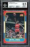 Michael Jordan Rookie Card 1986-87 Fleer #57 BGS 8.5 (8.5 8 9 9). rookie card picture