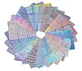 144 Styles Nail Art Vinyl Pochoir Nail Art Décoration Autocollants Set Nail Art DIY Décoration Outils en design Conseils Decals