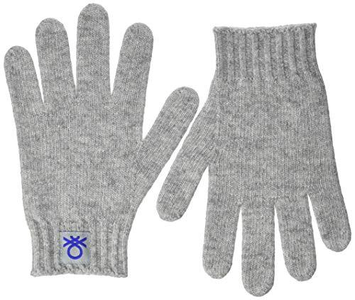 United Colors of Benetton (Z6ERJ Jungen Guanti Winter-Handschuhe, Melange Hellgrau 501, S