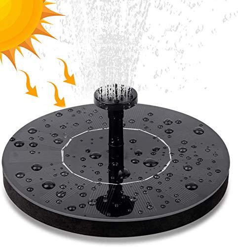 Solar Springbrunnen mit Akku, Nasharia 2W Solar Teichpumpe mit 6 Fontänenstile Solar Wasserpumpe für Gartenteich Fisch-Behälter Kleiner Teich