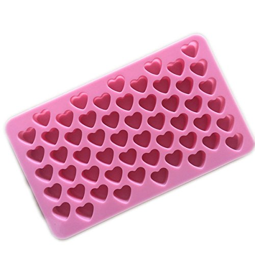 55 Cavity Samzary Mini Love Cake Mold Silicone Cupcake Mold DIY Cake Mould Pop Cupcake Baking Mold for Cakes Pudding Chocolate Candy and many others