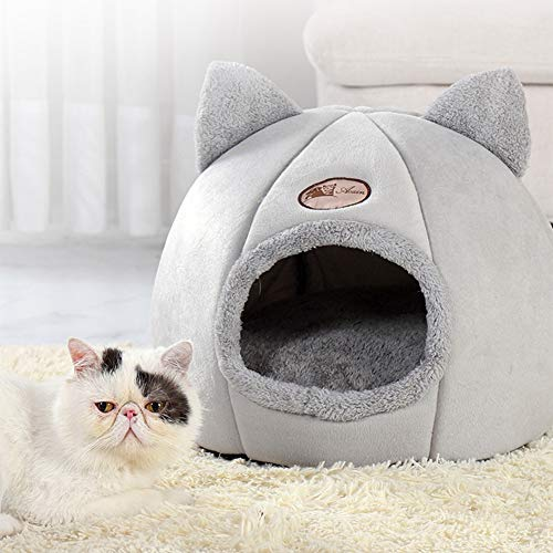 SanZHONGsd Cama para perro, cama de gato, cueva para mascotas pequeñas con cojín extraíble, resistente al agua, lavable, regalo para mascotas