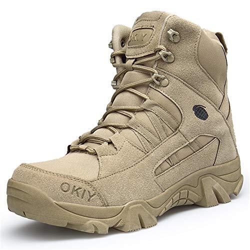 Lyoridra Herren Wanderschuhe Kampfstiefel Armee Tactical Boot Outdoor Trekking Schuhe