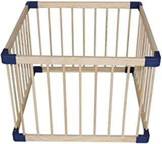 LXJJGF Baby Fence  Baby Learning Climbing Mat And Guardrail Indoor Children s Play Fence Baby Toddler Fence Home Solid Wood Safety Fence  Size 80x80cm