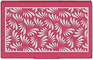 Wellspring Business Card Holder / Credit Card Case, Pink Floral (2519)