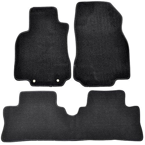 Floor Mats Compatible With 2009-2014 NISSAN CUBE   Nylon BlackFront Rear Carpet by IKON MOTORSPORTS   2010 2011 2012 2013