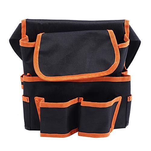 DFGH Werkzeugtasche 24x23cm Multifunktionale Mehrfache Taschen Garten Aufbewahrungstasche Tasche Elektriker Werkzeug ContainerBlack + Orange