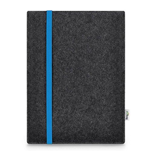 Stilbag maßgeschneiderte Tablet-Hülle LEON   Farbe: anthrazit-blau   Tablettasche aus Filz   Tablet Schutzhülle   Tasche Made in Germany