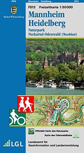 Mannheim Heidelberg: Naturpark Neckartal-Odenwald (Westblatt) (Freizeitkarten 1:50000 / Mit Touristischen Informationen, Wander- und Radwanderungen)
