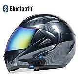 Casco Modular de Motos,Casco de Moto con Bluetooth Integrado ECE Homologado para Patinete Electrico Motocicleta Bicicleta Scooter con Gafas de Doble Protección Mujer y Hombre
