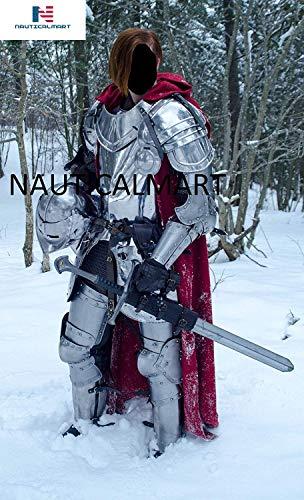 NauticalMart Medieval Knight Wearable Full Suit of Armor- LARP Custom Size Halloween Costume