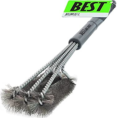 Best BBQ Grill Brush ( HIGHEST QUALITY STAINLESS STEEL ) 18  Barbecue Cleaning Brush w/ Wire Bristles & Soft Comfortable Handle - Perfect Cleaner & Scraper for Grill Cooking Grates