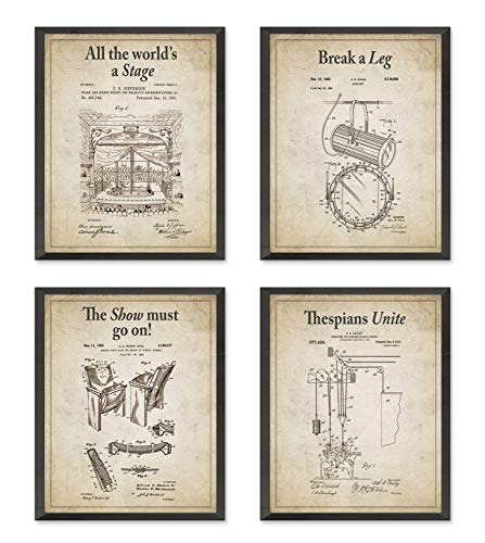 Theater Wall Patent Art Prints With Slogans