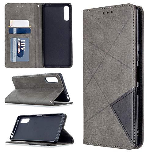 Hongjian Funda para Custodia para Sony Xperia L4 Flip Case Funda de cuero para Custodia por TPU silicona especial Case Cover 1
