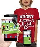 PIXEL EVOLUTION T-Shirt 3D Rugby Biarritz en Réalité Augmentée Enfant - Taille 5/6 Ans - Rouge
