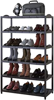 DHMHJH Shoe Rack, Metal Shoe Rack - Simple Shoe Rack for Home Use - Multi-Layer Assembled Shoe Rack - Storage Rack - Finishing Cabinet Entrance Channel (Size: 59x26x97.9cm) Simple Style