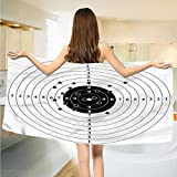 alisoso Black and White Bath Towels Target Numbers and Bullet Holes Shooting Polygon Gun Training Illustration extra large Towels Black White